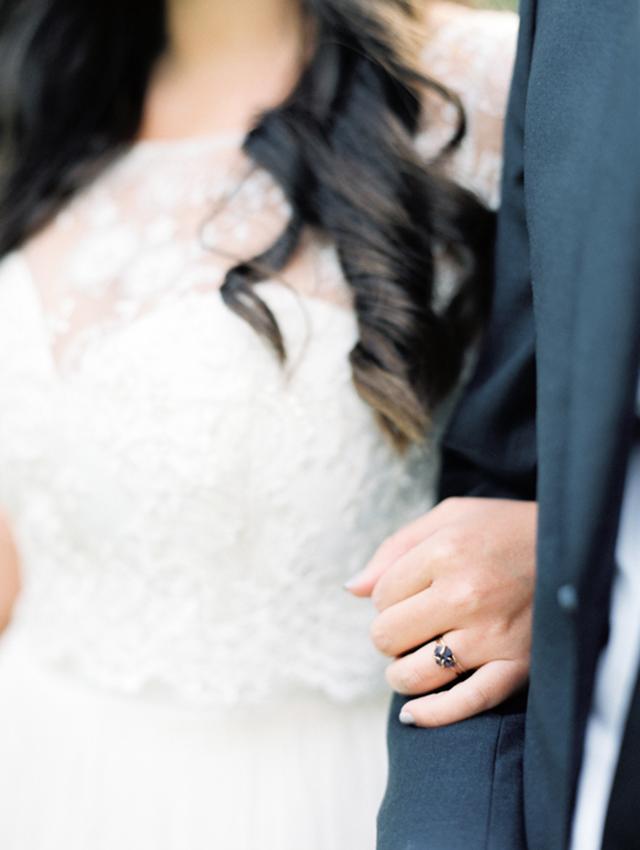Leanne Marshall Meredith Gown featured on Wedding Sparrow - www.loveandlacebridalsalon.com/blog
