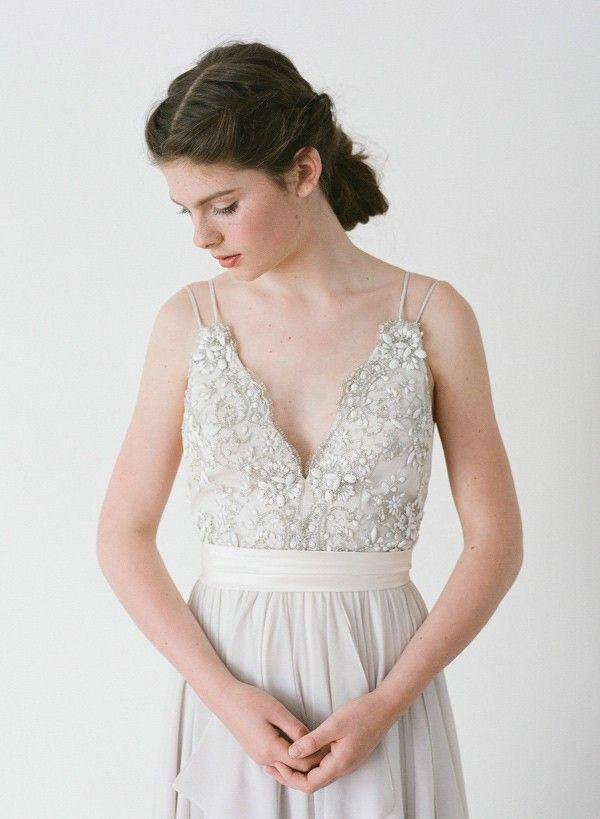 Truvelle's 2016 Alexandra gown styled Sweet Demure - www.loveandlacebridalsalon.com/blog