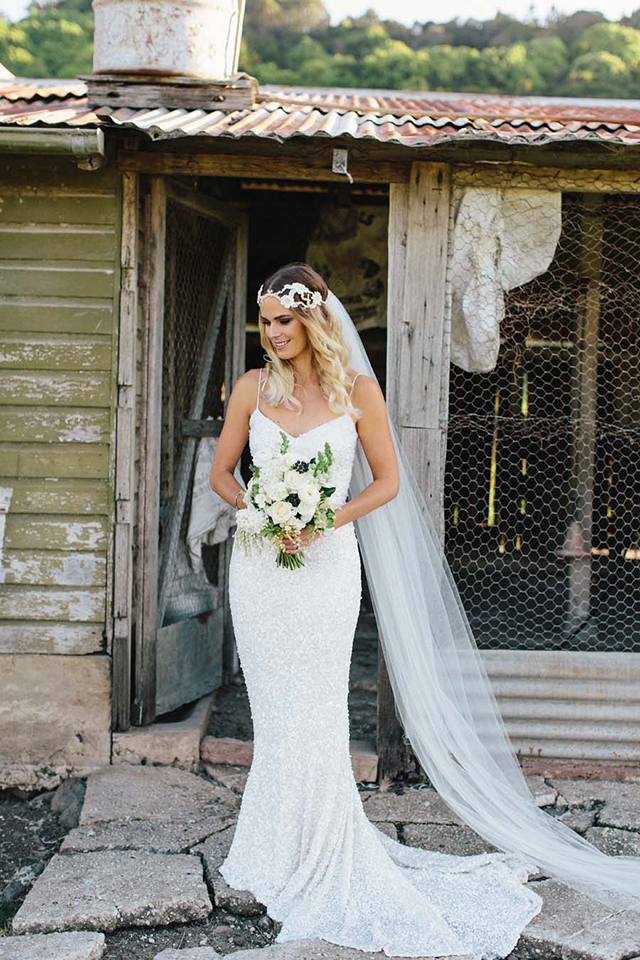 Karen Willis Holmes sequin Anya gown available at Love and Lace Bridal Salon - www.loveandlacebridalsalon.com/blog