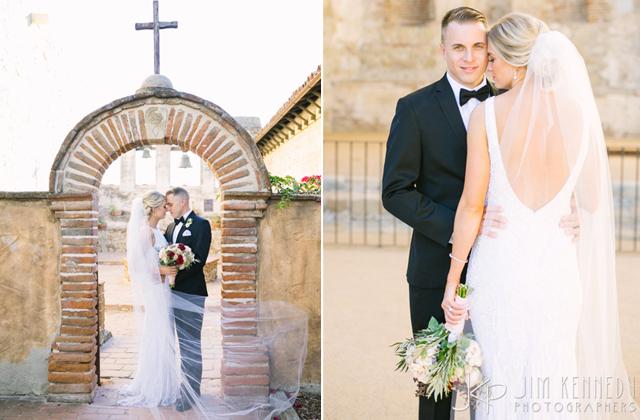 Real Bride Melissa in Theia Tara Gown / JIm Kennedy Photography - www.loveandlacebridalsalon.com/blog