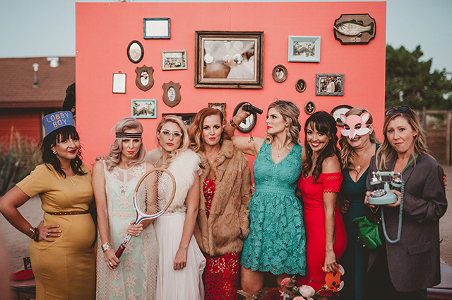 Coolest real bride and photographer Dana Grant in custom Divine Atelier | Found at Love and Lace Bridal Salon | Featured on Green Wedding Shoes - www.loveandlacebridalsalon.com/blog | cool bride, Wes Anderson inspired, desert wedding, retro wedding
