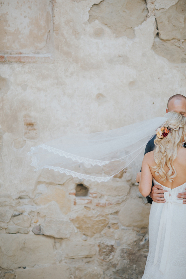 Real Love and Lace Bride In Mikaella Bridal strapless bridal gown | The Hearts Haven Photography | www.loveandlacebridalsalon.com/blog