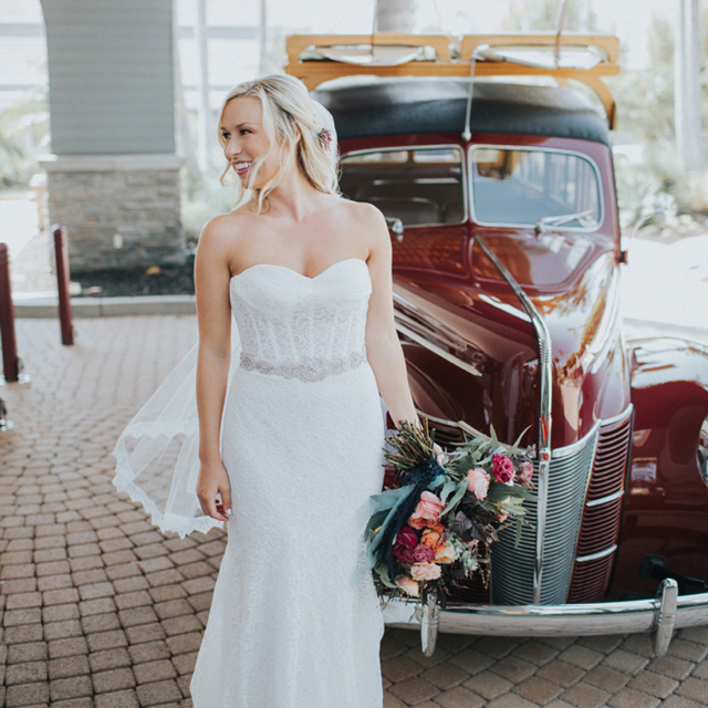 Customized Mikaella Strapless Bridal Gown