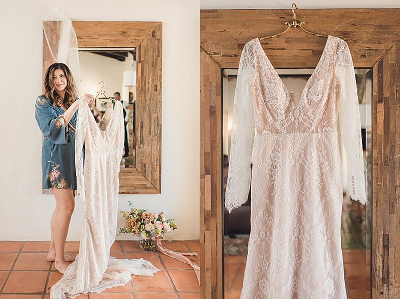 Palm Springs Bohemian wedding featured by top LA bridal shop, Love and Lace Bridal Salon